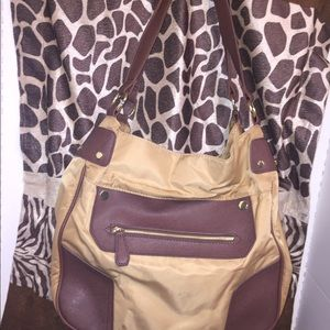 Charming Charlie bag w crisscrossed textured body